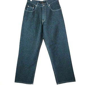 Vintage 90s Guess Urban Fit Blue Metallic Jeans